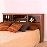 Bowery Hill King Bookcase Headboard in Cherry