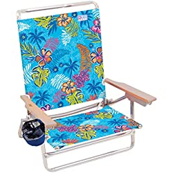 Rio Beach Classic 5 Position Lay Flat Folding Beach Chair - Totally Tropical Rainforest