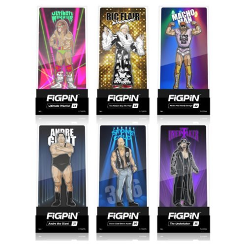 WWE Legends FiGPiN Enamel Pins 6-Pack Display Case by FiGPiN