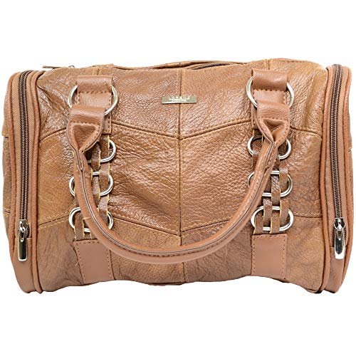 CAMEL LADIES WEEKEND SHOULDER DESIGNER HAND LARGE BAG NEW LORENZ LEATHER COWHIDE wCfx4Zvq