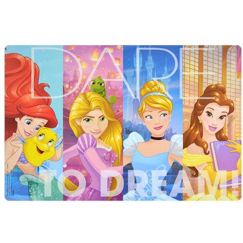 dp Designs Placemat with Dare To Dare Princesses Graphics, BPA-free Plastic