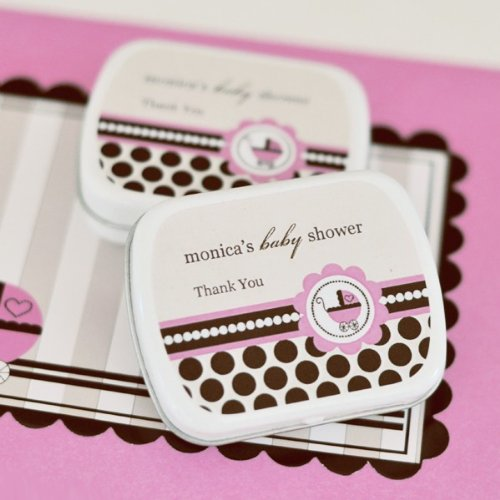 (Personalized Mint Tins - Pink Baby - Total 96 items)