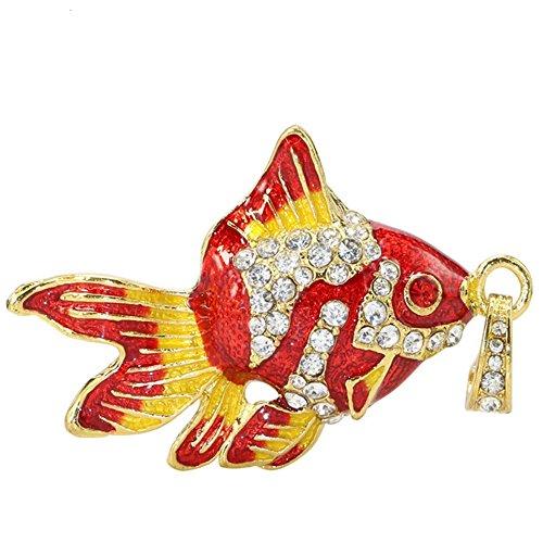 Aneew Pendrive 32GB Fish Goldfish Crystal USB Flash Drive Memory Stick U Disk