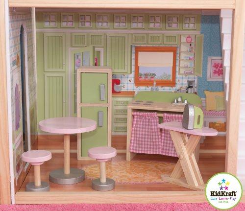 51asu98yhwL - KidKraft So Chic Dollhouse with Furniture