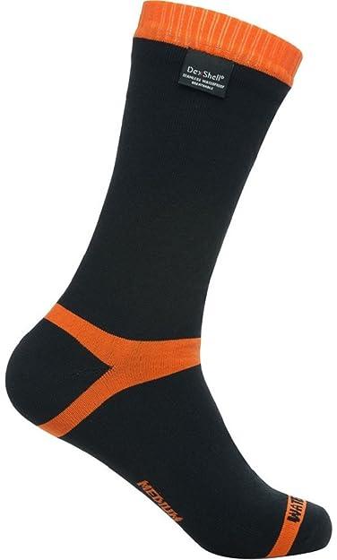 Dexshell Jackal Outdoors - hytherm Pro Unisex mitad de la pantorrilla impermeable calcetines negro/naranja: Amazon.es: Ropa y accesorios