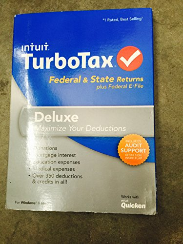 Intuit Turbotax Deluxe With State 2013