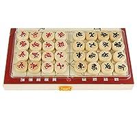 Fenteer 2セット 木製 中国の将棋 折り畳み式 携帯用 細工 ゲーム 贈り物の商品画像