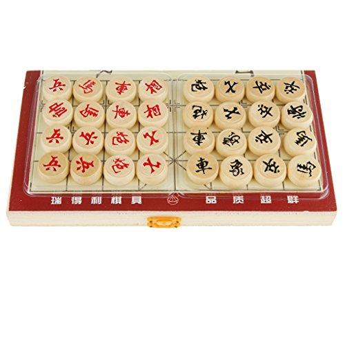 Fityle 2セット 木製 中国の将棋 チェスセット 折り畳み式 細工 ゲーム プレゼント 遊びの商品画像