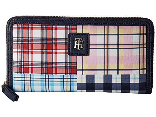 Tommy Hilfiger Women's Julia Patchwork Zip Wallet Navy/Multi One Size