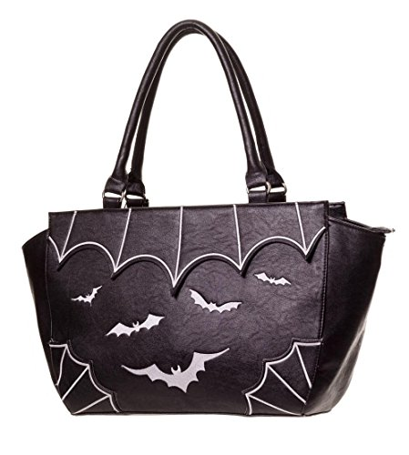 Handbag Leather Bag Faux White BANNED BATS PVC GOTHIC Clothing 4tnqEwwIxZ