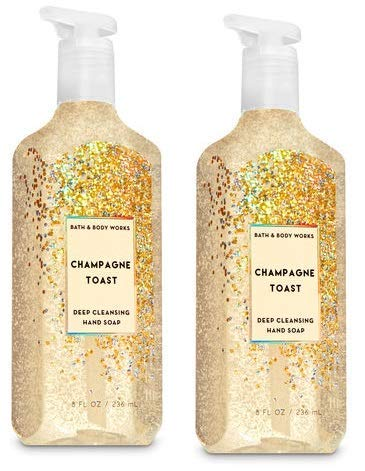 Bath and Body Works 2 Pack Champagne Toast Deep Cleansing Hand Soap 8 Oz.