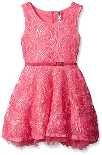 Price comparison product image Beautees Big Girls' All Over Soutache Dress, Car. Rose, 8