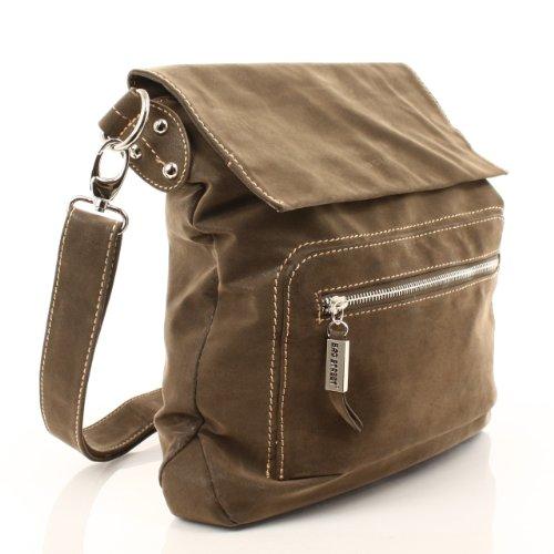 BAG STREET modische Tasche Damentasche Schultertasche Clutch Beuteltasche Shopper Bag Braun Wildlederoptik- by Beauty-Butterfly24