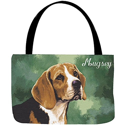 Dog Breed Tapestry Tote - Puppy's Name Handbag ()