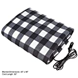 Trademark Tools 75-BP700 12V Plaid Electric Blanket for Automobile by Trademark Tools