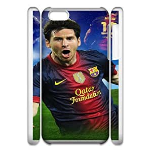 iphone 5C 3D Phone Case White Lionel Messi F6569013