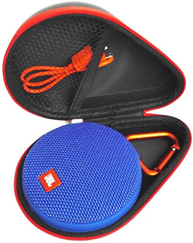 FitSand (TM Portable Travel Carry Zipper Protective EVA Hard Case Cover Bag Box for JBL Clip 2 JBL Clip 3 Waterproof Portable Bluetooth Speaker