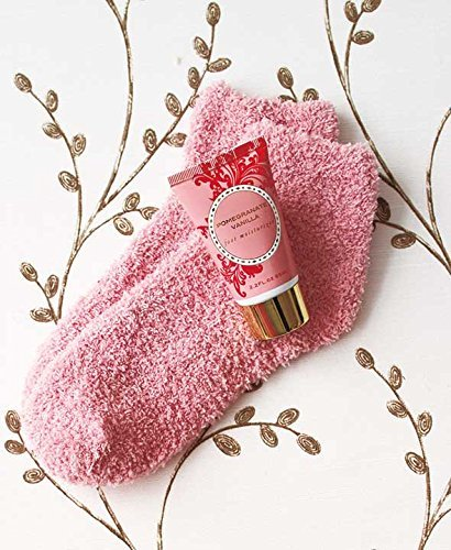 The Lakeside Collection Cozy Sock and Lotion Gift Box Sets - Pomegranate Vanilla