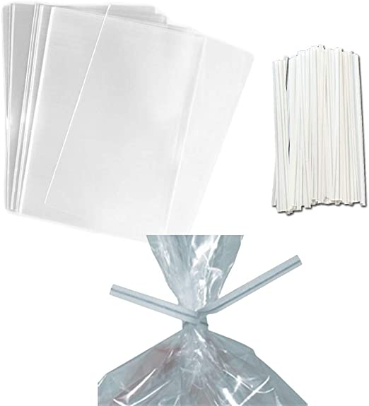 100 3x5 1//2 Clear Bakery Cookie Cake Pops Lollipop Poly Cello Cellophane Bags