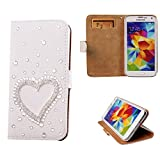 3d samsung galaxy s4 mini cases - xhorizon TM Premium Leather Flip 3D Bling Rhinestone Diamond Crystal Stand Wallet Case ZY for iPhone 4/4s/5/5s/6/6 Plus Samsung GALAXY S3/S4/S5/Note2/Note3/Note4/S3 Mini/S4 Mini