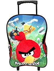 Angry Birds 16 Rolling Backpack 3-D Red Bird and Pigs