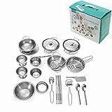 Brand new - 32PCS Kitchen Pan Pot Dish MIni Stainless Kitchenware Play Set Child Kids Role Play Toy Gift