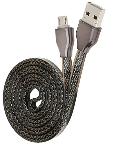 Chevron Dual USB to Micro USB Charge & Sync Data Cable With Phone to Phone Charging Function