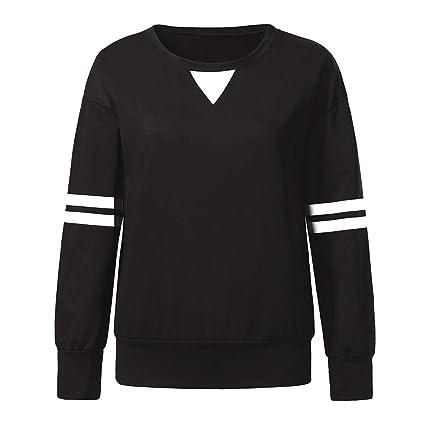 ZJSWCP Sweatshirt Women Stripe Patchwork Long Sleeve Sweatshirt Pullover Shirt Tops Blouse Manteau Femme Hiver Sudaderas