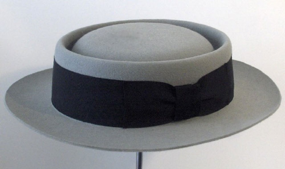 Cappello Buster Keaton pork pie Flat hat  Amazon.it  Handmade d1b350af3552