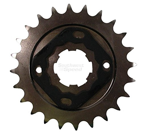 530 Conversion Sprockets (NEW SOUTHWEST SPEED 26 TOOTH FRONT COUNTERSHAFT HARLEY MOTORCYCLE SPROCKET FOR 530 CHAINS, 6 SPLINE, 1936-1979 HARLEY DAVIDSON BIG TWIN BIKES)