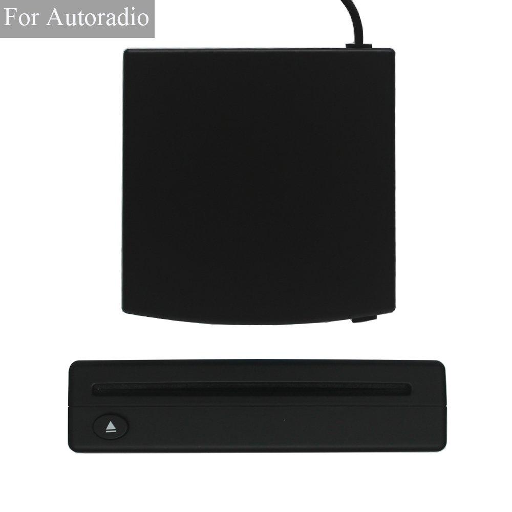 XISEDO External DVD Drive CD/DVD RW Burner Writer Drive DVD ROM Player External CD RW/DVD RW/CD RAM/DVD RAM Drive for Android Car Stereo, Laptop, PC, Desktop Computer (Black) by XISEDO