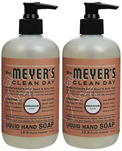 Liquid Hand Soap, Geranium, 12.5 oz, 2 pk - Geranium Hand Wash