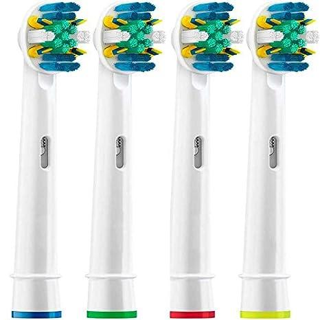 Ociodual 4 Recambios Compatibles para Cepillo de Dientes Oral B Floss Action Clean EB-25A: Amazon.es: Electrónica