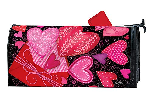 MailWraps Studio M Sending Love Decorative Spring Valentine's Day, The Original Magnetic Mailbox Cover, Made in USA, Superior Weather Durability, Standard Size fits 6.5W x 19L Inch Mailbox