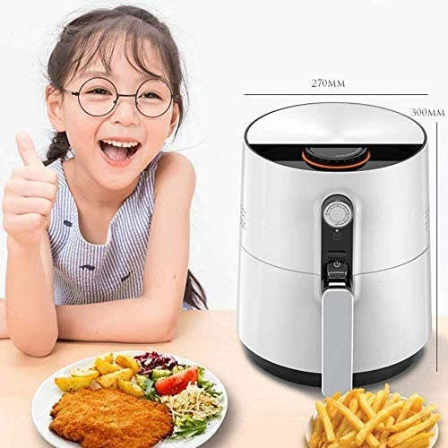 Air Fryer, 2.6L électrique Air Fryer Four Cuisinière avec contrôle de température, non Memory Stick Fry Panier, automatique Français Frie DDLS