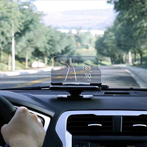 Head Up Display (HUD) - Dashboard Mounted -GPS Navigation Image Reflector - Universal