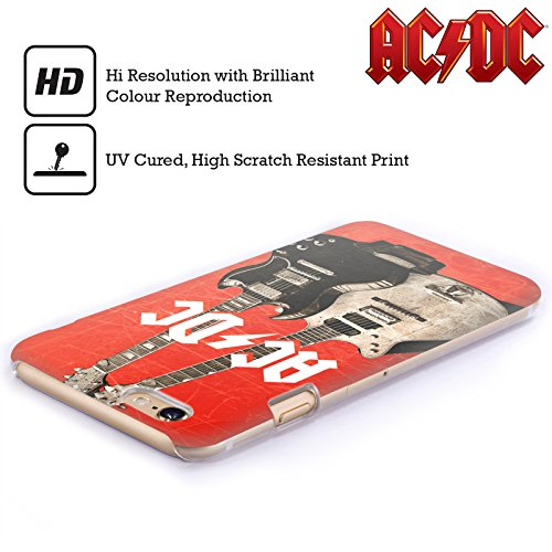 Officiel AC/DC ACDC Guitares Électriques Iconique Étui Coque D'Arrière Rigide Pour Apple iPhone 6 Plus / 6s Plus