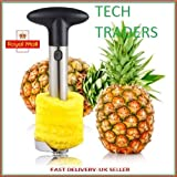Tech Traders ® New Stainless Steel Fruit Pineapple Slicer Corer Cutter Peeler Kitchen-LIFE TIME WARRANTY