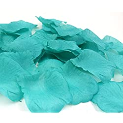 1000PCS Artificial Silk rose Petals for Weddings Flower Girl Basket Rose Confetti Turquoise Wedding Decorations Aisle Runner Supplies