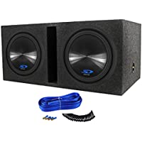 2 Alpine Type-S SWS-12D4 12 3000w Car Subwoofers+Vented Sub Box Enclosure SWS12