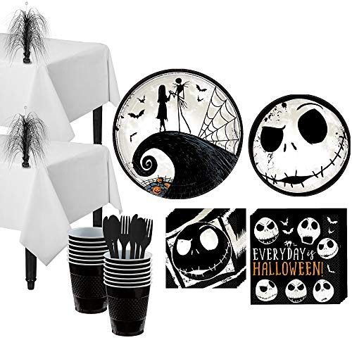 Party City The Nightmare Before Christmas Party Supplies for 16 Guests, Include Plates, Napkins, Centerpieces, and