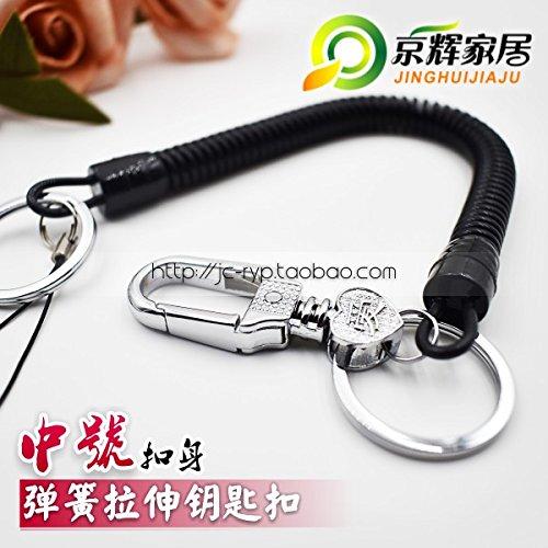 XiaoGao_ Anti pérdidas Llavero de Cuerda del Amortiguador ...