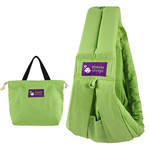 GOMAMA Baby sling One Size Wrap Carrier With Bags Fits to Newborn Baby (Rainbow)
