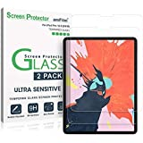 amFilm (2 Pack) Glass Screen Protector for iPad Pro 12.9 inch (2020 & 2018 Models) (2 Pack), Tempered Glass, Ultra…