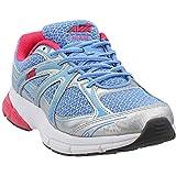 AVIA Women's Rise Running Shoe, Chrome Silver/Elite Blue/Geranium Pink, 6 M US