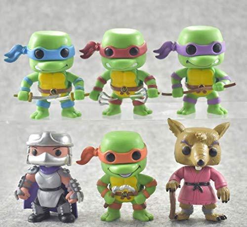 NEW Set 6pcs Teenage Mutant Ninja Turtle Kids Toy Action Figure New Anime 7cm