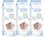 Sipahh Milk Flavoring Straw - 25 Pack x 3 Pack =(Total 75 Pack)