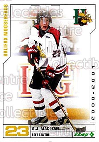 AJ MacLean Hockey Card 2000-01 Halifax Mooseheads 16 AJ MacLean (Aj Maclean compare prices)