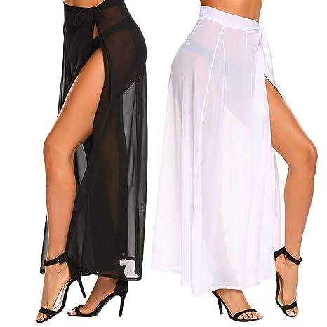 404da7d15 2 Pack Women's Sarong Swimsuit Cover Up, Long Sheer Maxi Beach Skirt  Swimsuit Cover Up