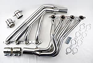 Amazon com: Long Tube Stainless Steel Headers w/Extension